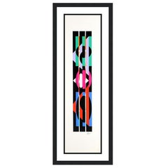 YAACOV AGAM  UNTITLED 4 FROM THE +-X9 SUITE  SIGNED AND NUMBERED