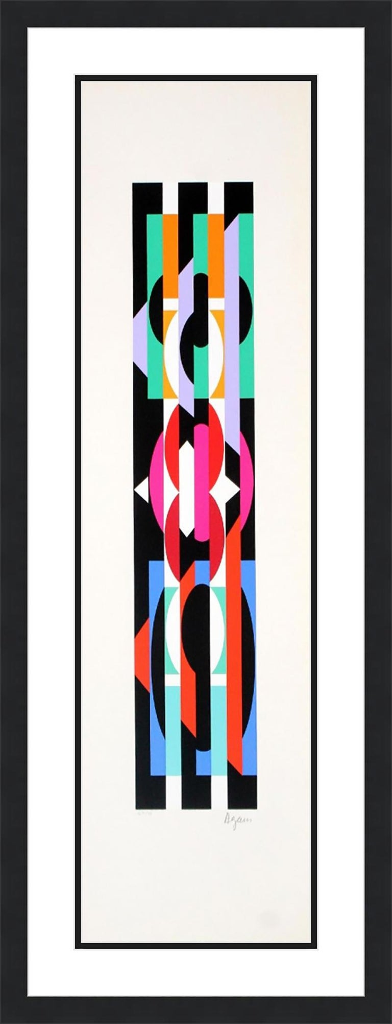 YAACOV AGAM  UNTITLED 6 FROM THE +-X9 SUITE  SIGNED AND NUMBERED - Print by Agam Yaacov