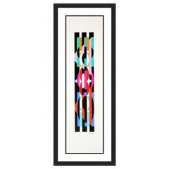 YAACOV AGAM  UNTITLED 6 FROM THE +-X9 SUITE  SIGNED AND NUMBERED