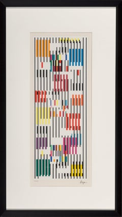 Yaacov Agam 'Untitled' Limited Edition, Signed Abstract Geometric Print