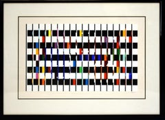 Yaacov Agam, Untitled Suite I, Serigraph Signed and numbered framed