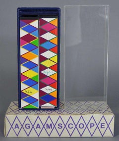 Agam Silkscreen Kaleidoscope Agamascope Sculpture Signed # in Box Israeli Op Art