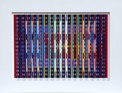Midnight Blue, Prismagraph 3-D Wall Sculpture by Yaacov Agam