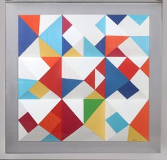 Nines, Large 3-D Wall Sculpture by Yaacov Agam