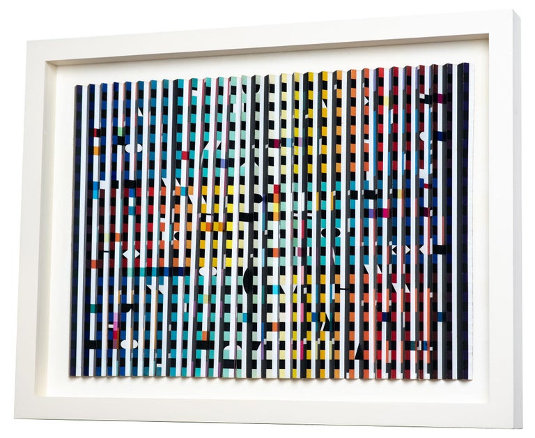 Yaacov Agam, Midnight Light, polymorph, Kinetic art, Colored work, International artist, Israeli artist, Israeli art