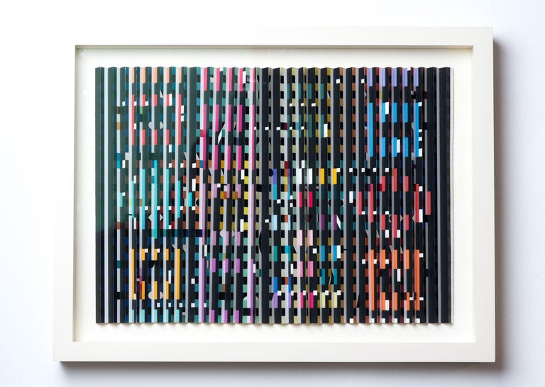 Agam Yaacov  Abstract Sculpture - Yaacov Agam, Midnight Light, Kinetic work, colored work