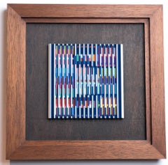 Yaacov Agam, Small EA nd, Original kinetic work, Acrylic on aluminium