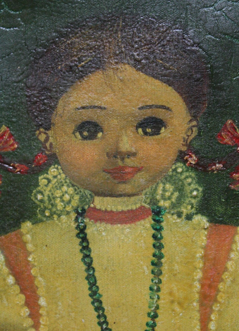 Agapito Labios Mexican 1898-1996 Oil on Canvas Folk Art For Sale 4