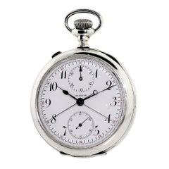 Agassiz Sterling Silver High Grade Split Seconds Chronograph Watch