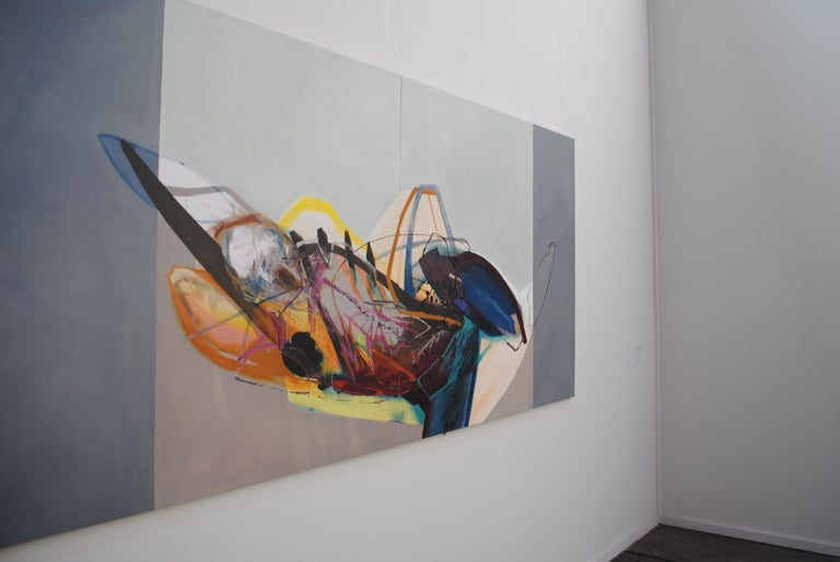 SERIES: MEAT&GEOMETRY -  Diptych: Meat and Geometry IX - (Large Format Painting) For Sale 1
