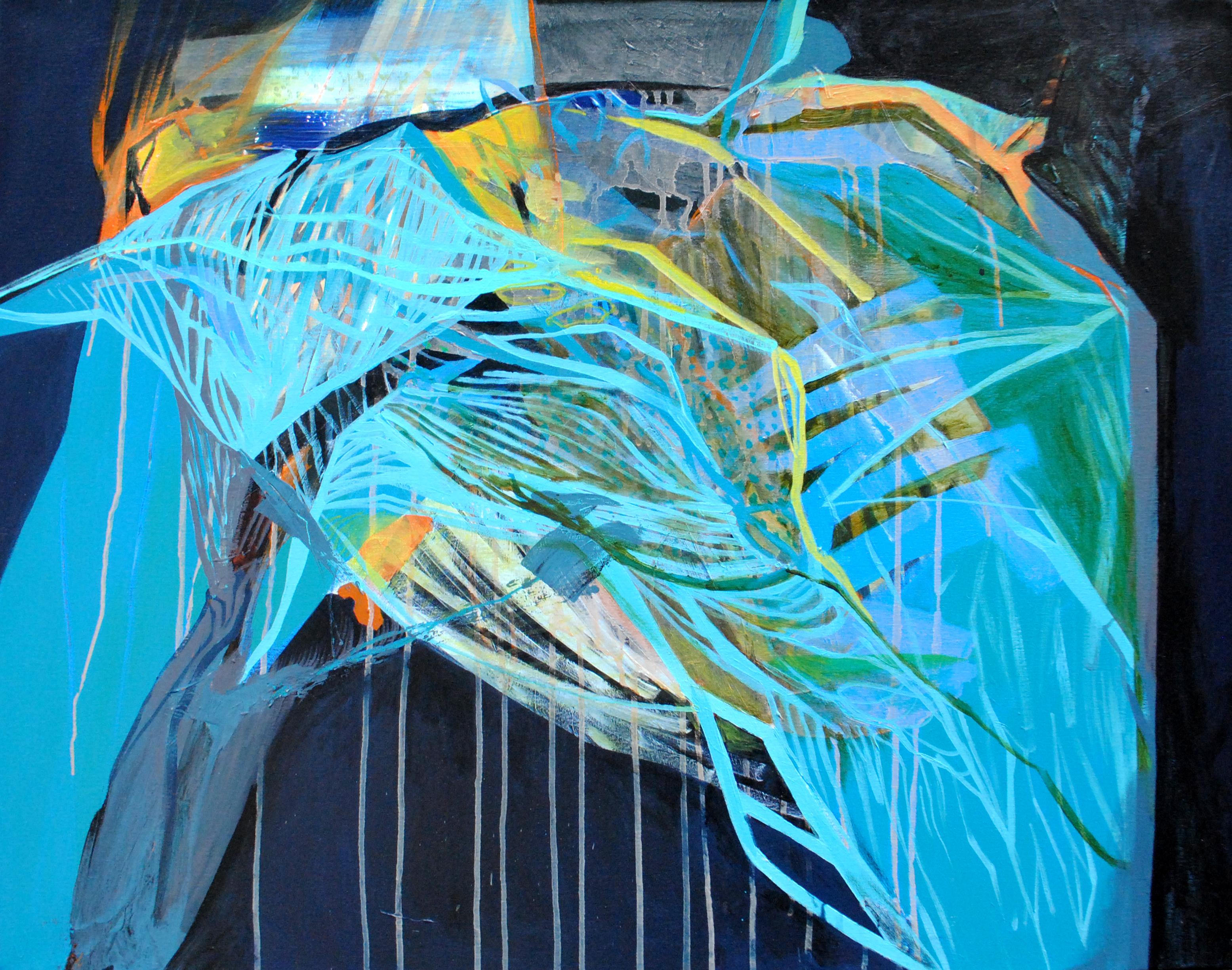 SERIES: TRUNKS - Trunks V -  Modern Abstract Painting, Conceptual Painting