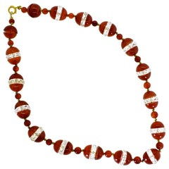 Agate and Rock Crystal Necklace, circa 1925