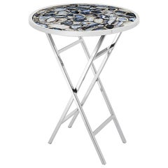 Agate Blue Side Table