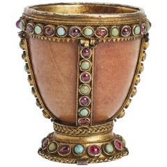 Agate Cup with Garnets and Turquoise, Russia, 18th Century