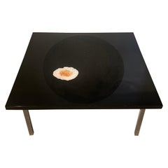 Agate Inlaid Coffe Table by Philippe Barbier
