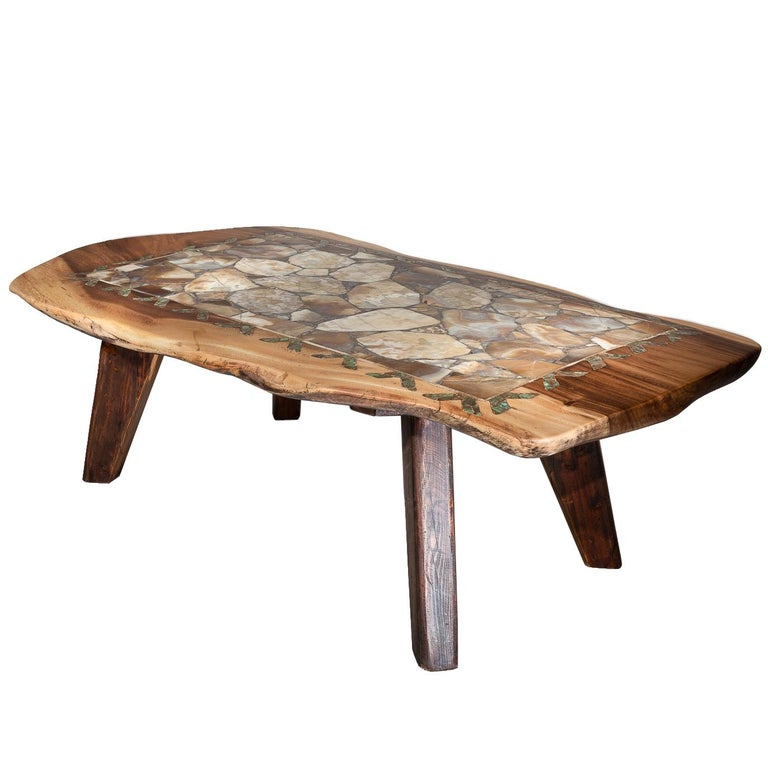 Agate Inlaid Coffee Table For Sale At 1stdibs