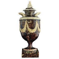 Agateware Vase, Attributed to Steitz, circa 1775