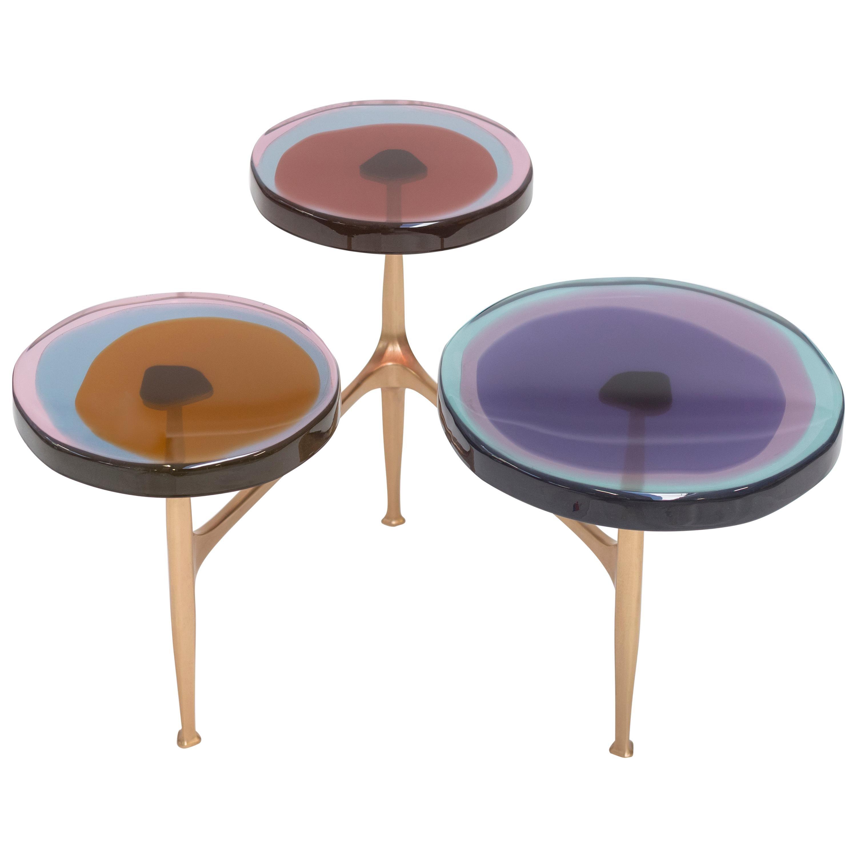 Agatha Coffe Table 3 by Draga & Aurel Resin and Bronze, 21st Century