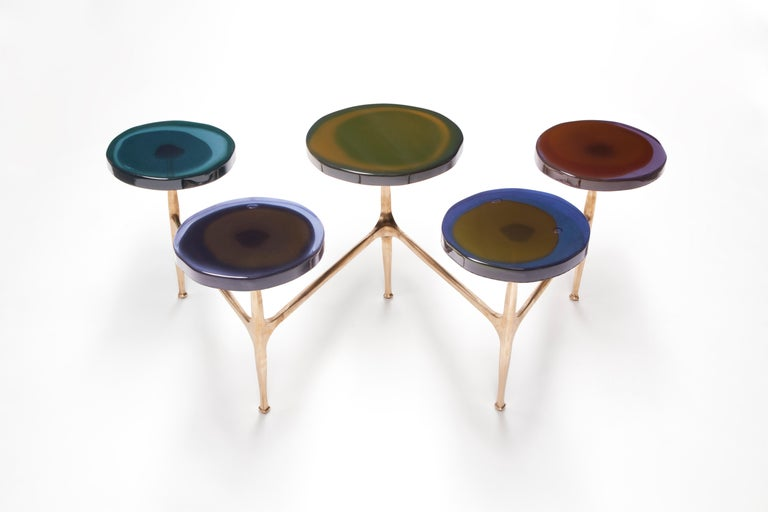Modern Agatha Coffe Table 3 by Draga & Aurel Resin and Bronze, 21st Century For Sale