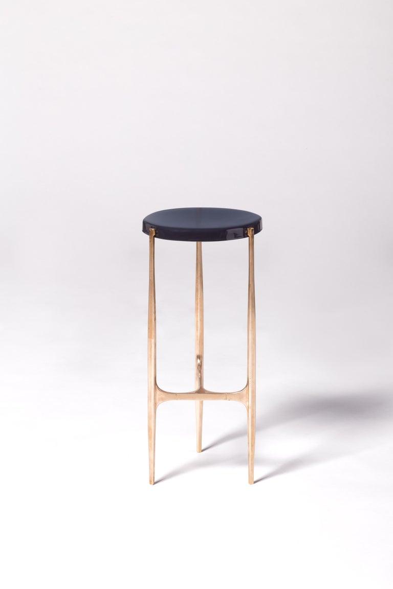 Italian Agatha Coffe Table 3 by Draga & Aurel Resin and Bronze, 21st Century For Sale