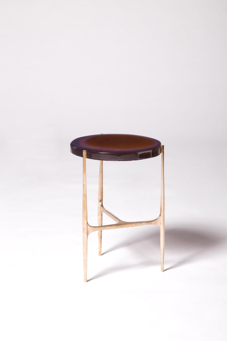 Agatha Coffe Table 3 by Draga & Aurel Resin and Bronze, 21st Century In New Condition For Sale In Como, IT