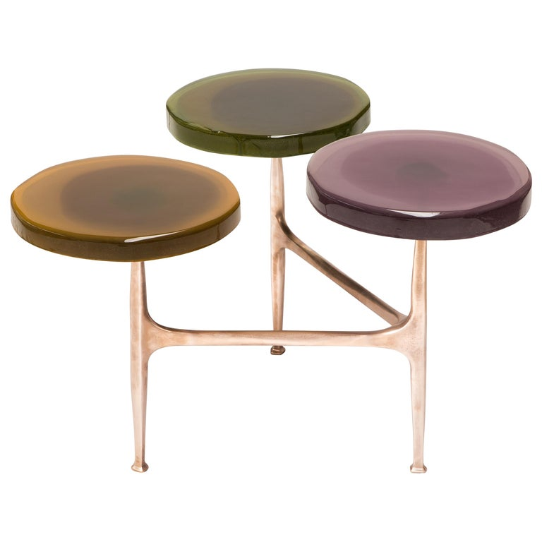 Agatha Coffe Table 3 by Draga & Aurel Resin and Bronze, 21st Century For Sale