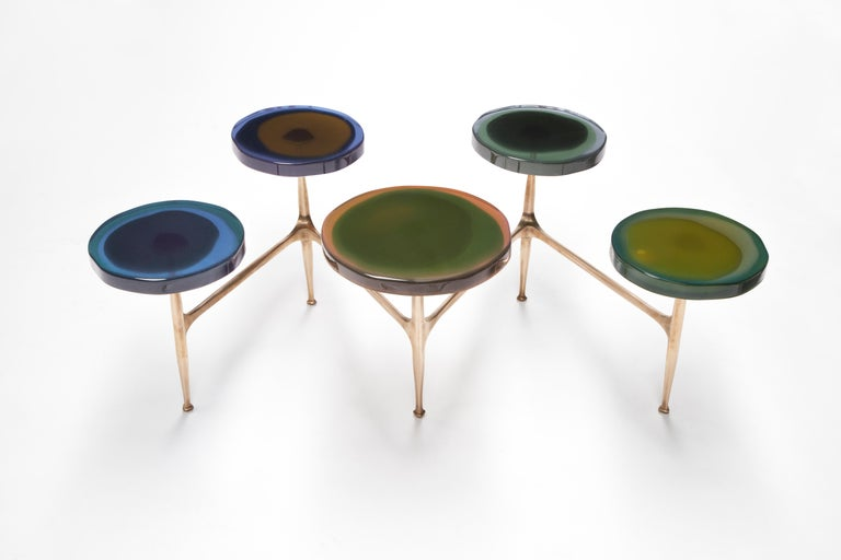 Modern Agatha Coffee Table X5 by Draga & Aurel Resin and Bronze, 21st Century For Sale