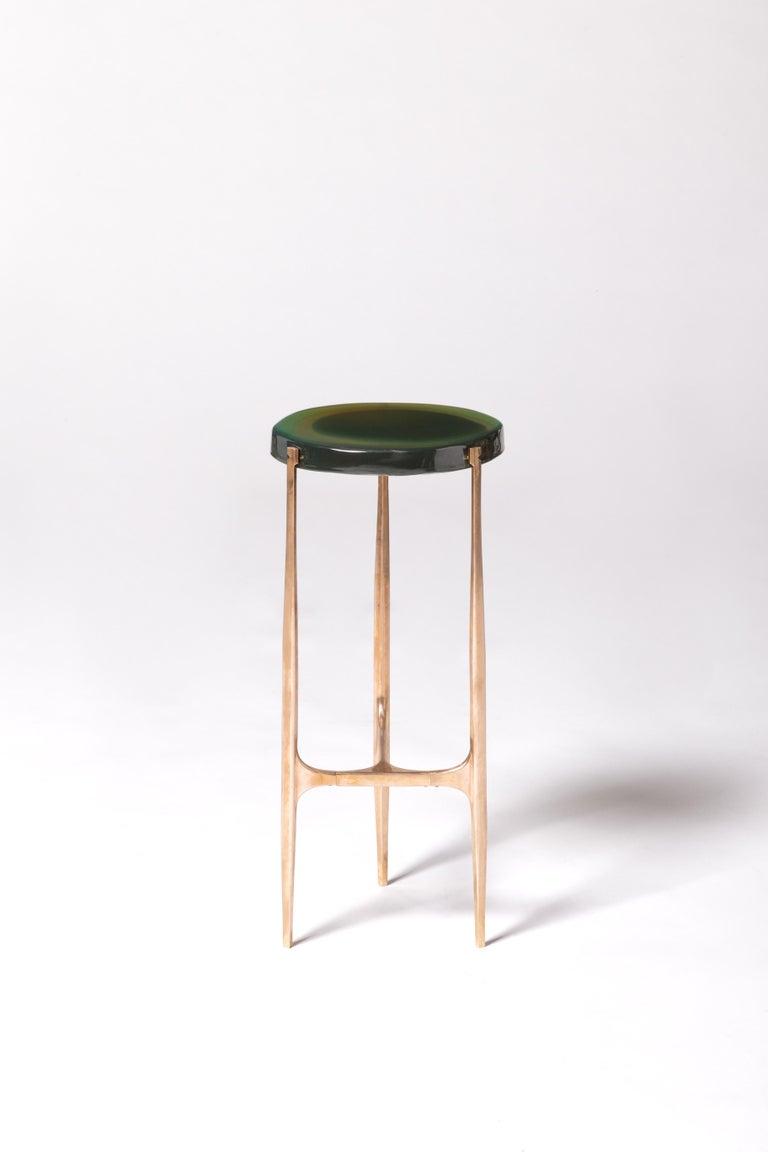 Italian Agatha Coffee Table X5 by Draga & Aurel Resin and Bronze, 21st Century For Sale