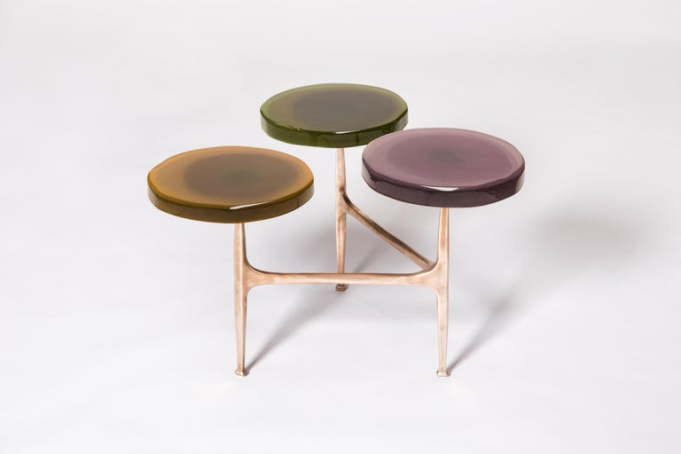 Contemporary Agatha Coffee Table X5 by Draga & Aurel Resin and Bronze, 21st Century For Sale