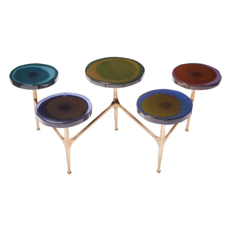 Agatha Coffee Table X5 by Draga & Aurel Resin and Bronze, 21st Century For Sale