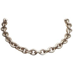 Agatha Paris Silver Plated Cable Link Chain Necklace with a Toggle Clasp