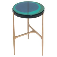 Agatha Single Coffee Table Low by Draga & Aurel Resin and Bronze, 21st Century