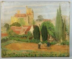 Antique French Landscape 1928