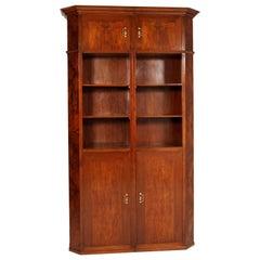 Age Art Deco Impressive Credenza Bookcase Meroni & Fossati Lissone Wax-Polished