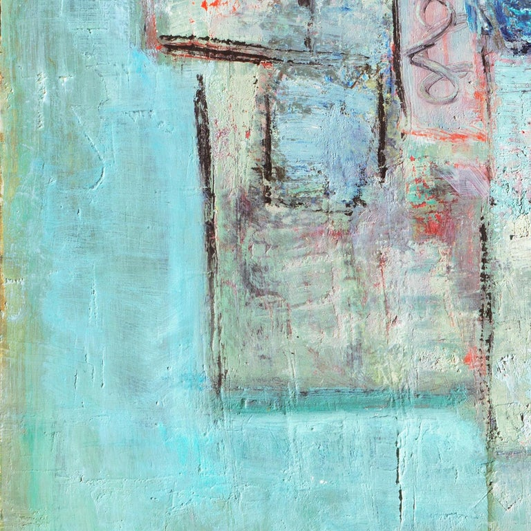 Mid-Century Danish 'Abstract in Primrose and Blue', Benezit and Thieme-Becker For Sale 3
