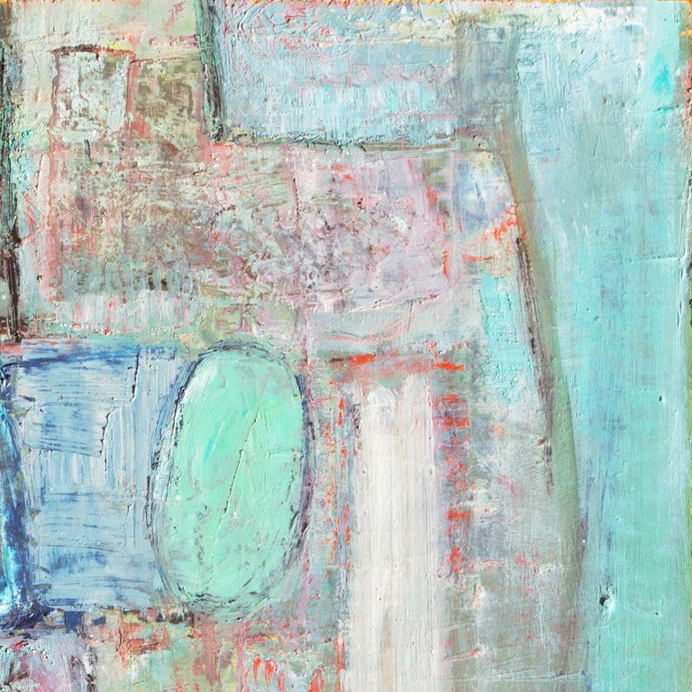 Mid-Century Danish 'Abstract in Primrose and Blue', Benezit and Thieme-Becker For Sale 5