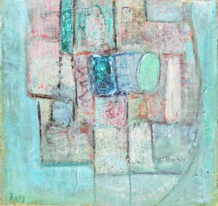 'Abstract in Rose and Blue', Paris Modernist, Guggenheim Award, Benezit