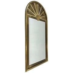 Aged Brass Beveled Mirror by Mastercraft