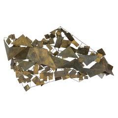 Brass Wall-mounted Sculptures