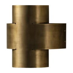 Aged Brass Plus One Large Lamp by Paul Matter