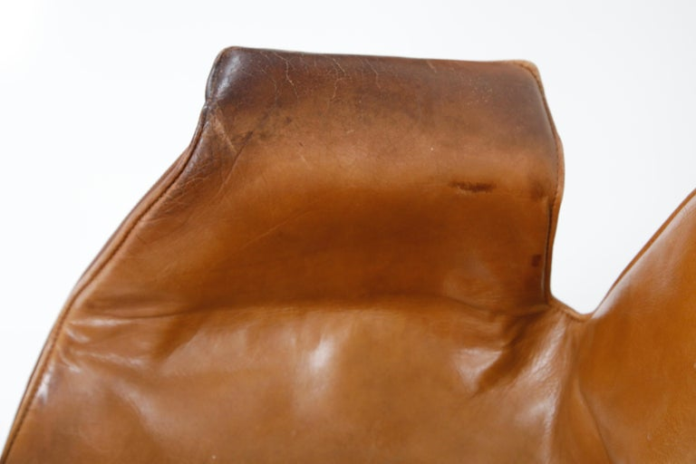 Aged Cognac Leather Bird Chairs by Fabricius & Kastholm for Alfred Kill, 1960s For Sale 6