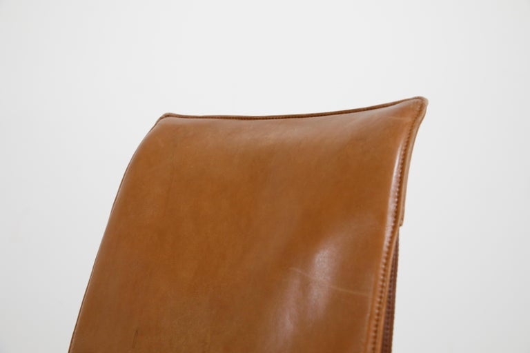 Aged Cognac Leather Bird Chairs by Fabricius & Kastholm for Alfred Kill, 1960s For Sale 2