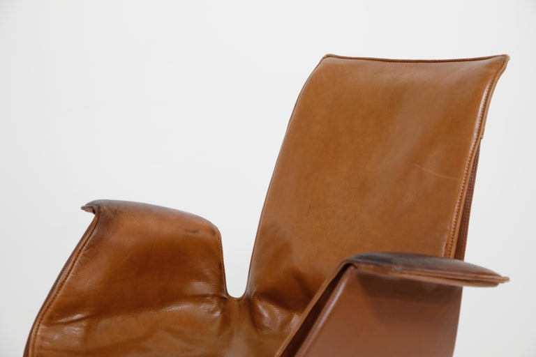 Aged Cognac Leather Bird Chairs by Fabricius & Kastholm for Alfred Kill, 1960s For Sale 3