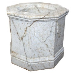 Aged Marble Hand-Carved One-Piece Well