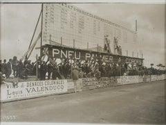 Car Racing in France, circa 1911 - Silver Gelatin Black & White Photograph