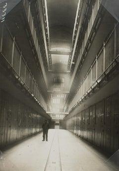 La Santé, Jail House in Paris, 1930 - Silver Gelatin Black & White Photograph