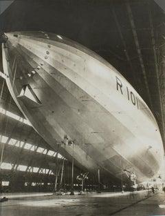 The Airship R101 Construction 1929  - Silver Gelatin B & W Photograph