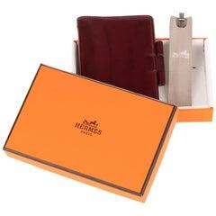 Agenda vintage PM Hermès in calfskin burgundy !