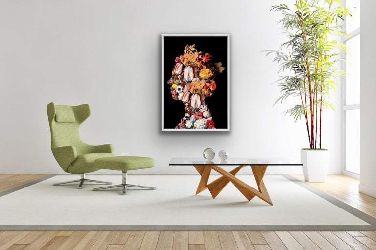 Agent X, One Queen (2) Black, Contemporary Art, Affordable Art, Floral Art For Sale 2