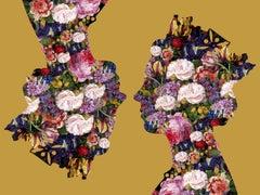 Agent X, Queen 1 (Gold) , Floral Art, Celebrity Art, Silhouette Art, Flower Art